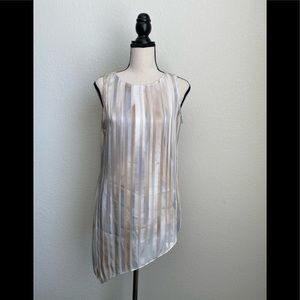 White House Black Market Sheer Sleeveless Blouse